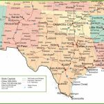 Map Of New Mexico, Oklahoma And Texas   Map Of North Texas And Oklahoma