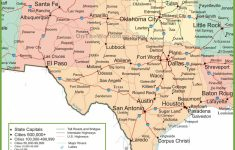 Map Of New Mexico, Oklahoma And Texas   Map Of Oklahoma And Texas Together
