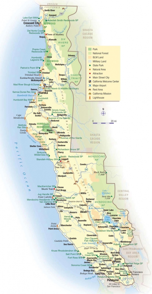 Map Of Northern California Coast Cities – Map Of Usa District - California Beach Cities Map