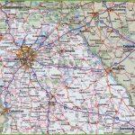 Map Of Northern Georgia   Georgia Road Map Printable