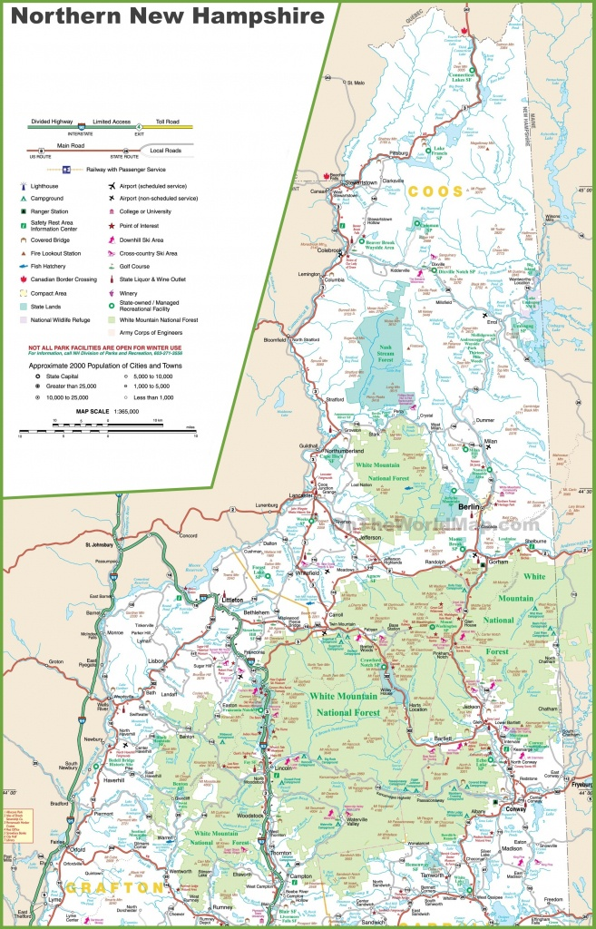 Map Of Northern New Hampshire - Printable Map Of New Hampshire