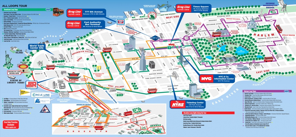 Map Of Ny City Attractions - Capitalsource - Printable Map Of New York City With Attractions