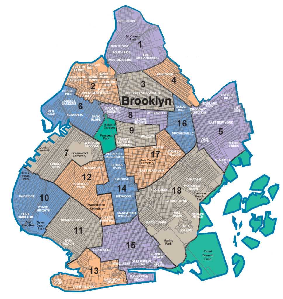 Map Of Nyc 5 Boroughs & Neighborhoods - Map Of The 5 Boroughs Printable