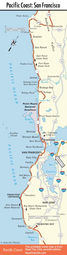 Map Of Oregon And California Coast | Travel Maps And Major Tourist - Map Of Oregon And California Coastline