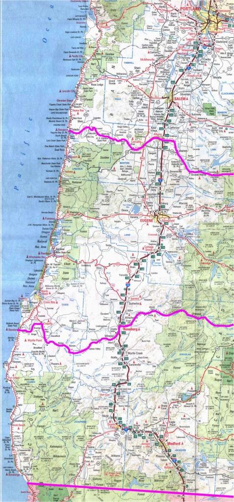Map Of Oregon Coast Campgrounds California Coast Campgrounds Map - Oregon Road Map Printable