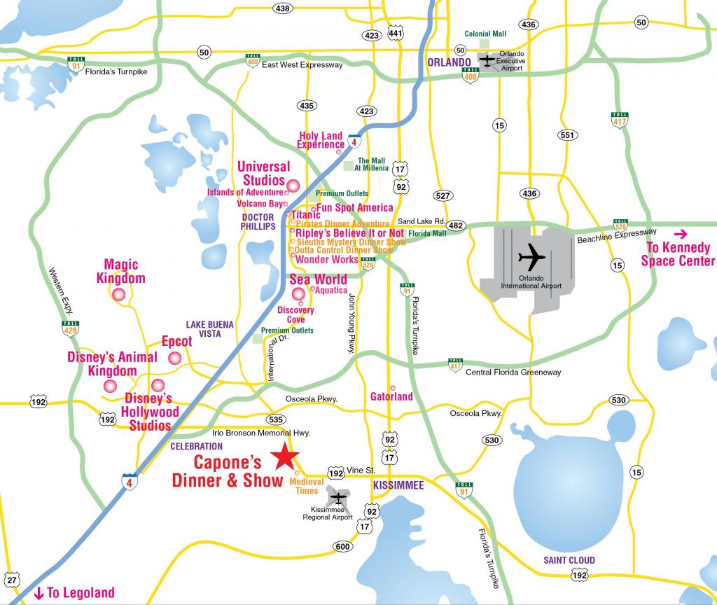 Map Of Orlando Florida Attractions Map2018 | D1Softball - Orlando Florida Map