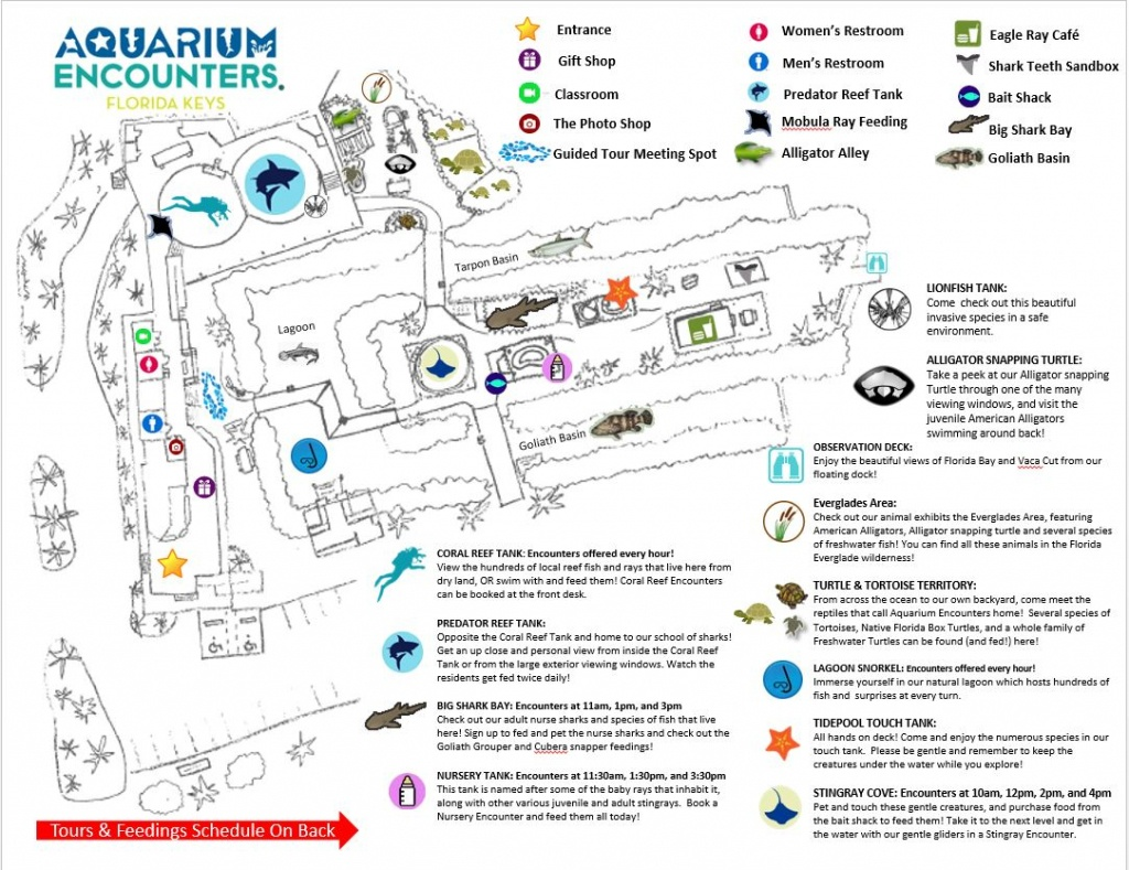 Map Of Our Park - Florida Keys Aquarium Encounters - Florida Aquarium Map