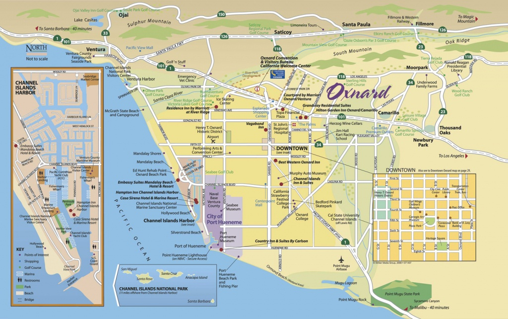 Map Of Oxnard - Find Your Way Around Oxnard And Ventura County - Oxnard California Map