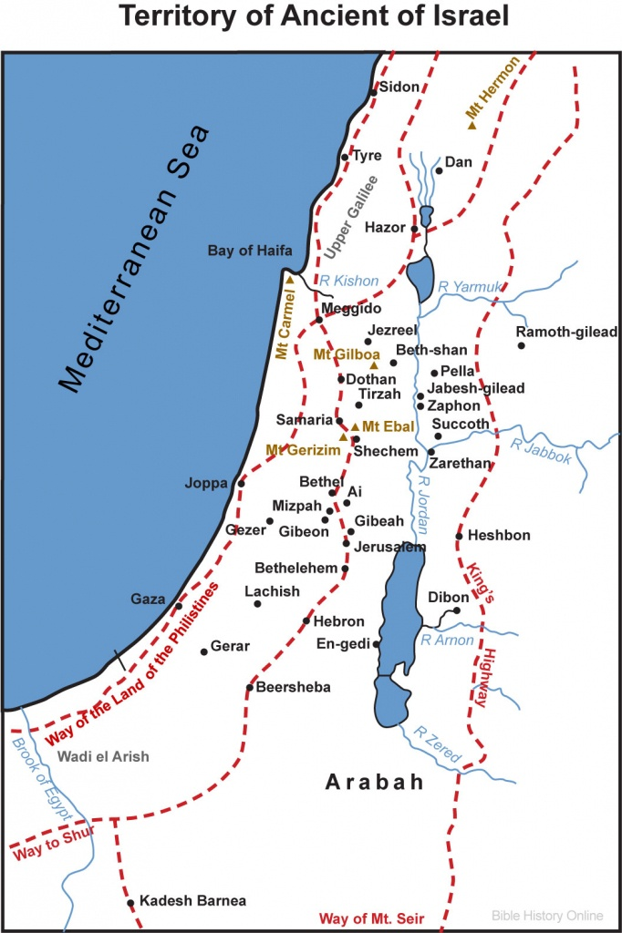 Map Of Palestine - Territory (Bible History Online) - Printable Bible Maps For Kids