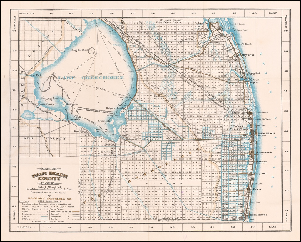 Map Of Palm Beach County Florida - Barry Lawrence Ruderman Antique - Map Of Palm Beach County Florida
