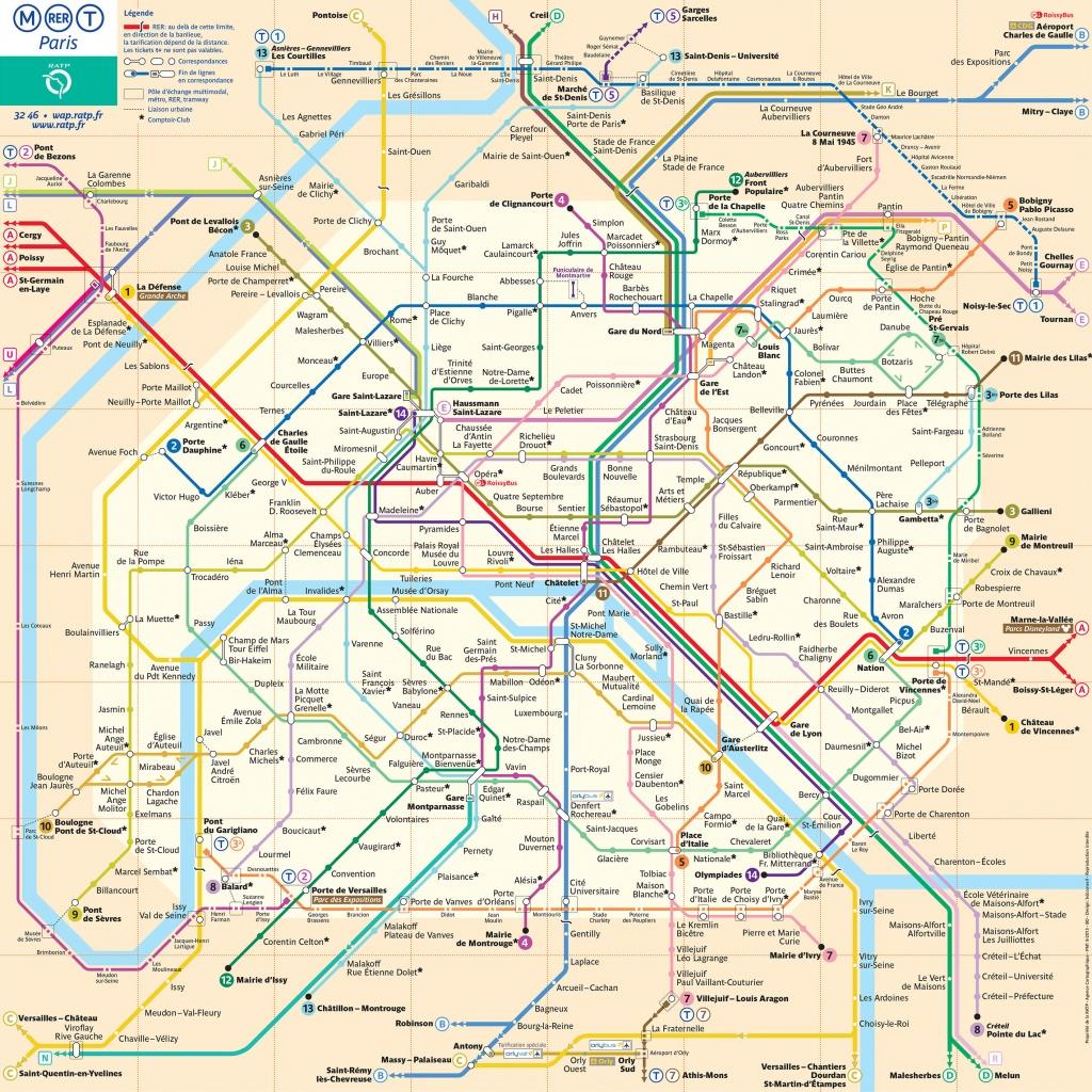 Map Of Paris Subway, Underground & Tube (Metro): Stations & Lines - Printable Paris Metro Map