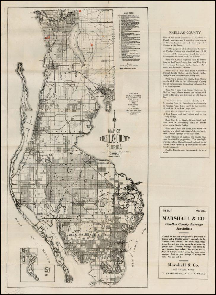 Vintage Florida Maps For Sale