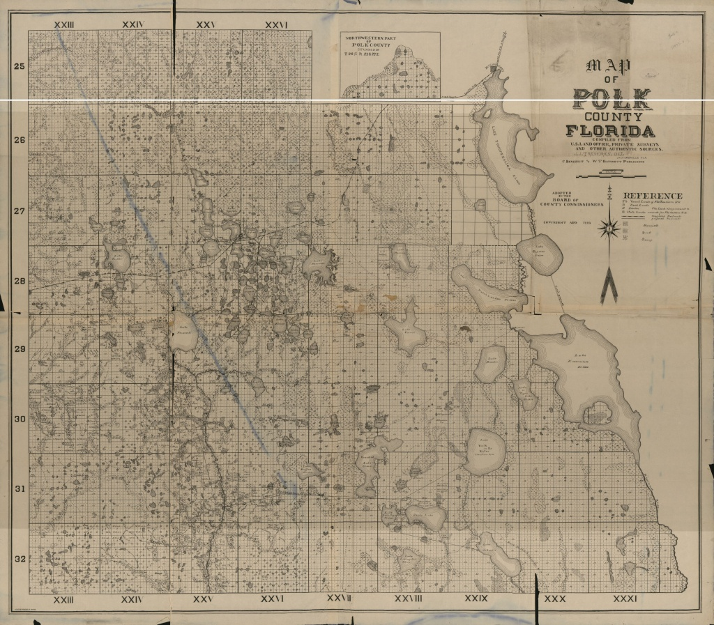 Map Of Polk County, Florida - Copy 1 | Library Of Congress - Polk County Florida Parcel Map