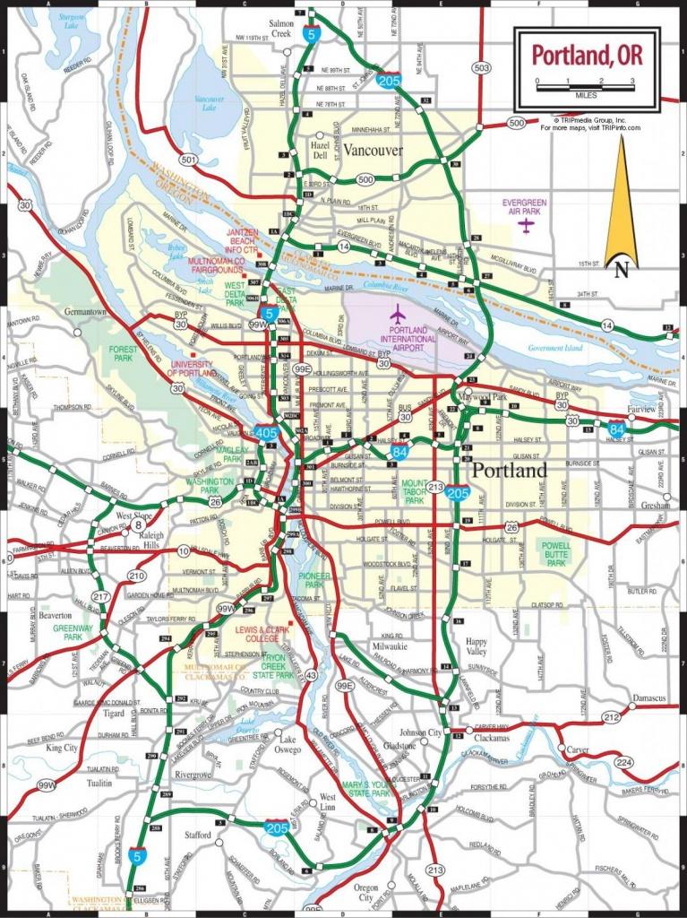 Map Of Portland Oregon Seattle Washington Surrounding Cities - Printable Map Of Portland Oregon