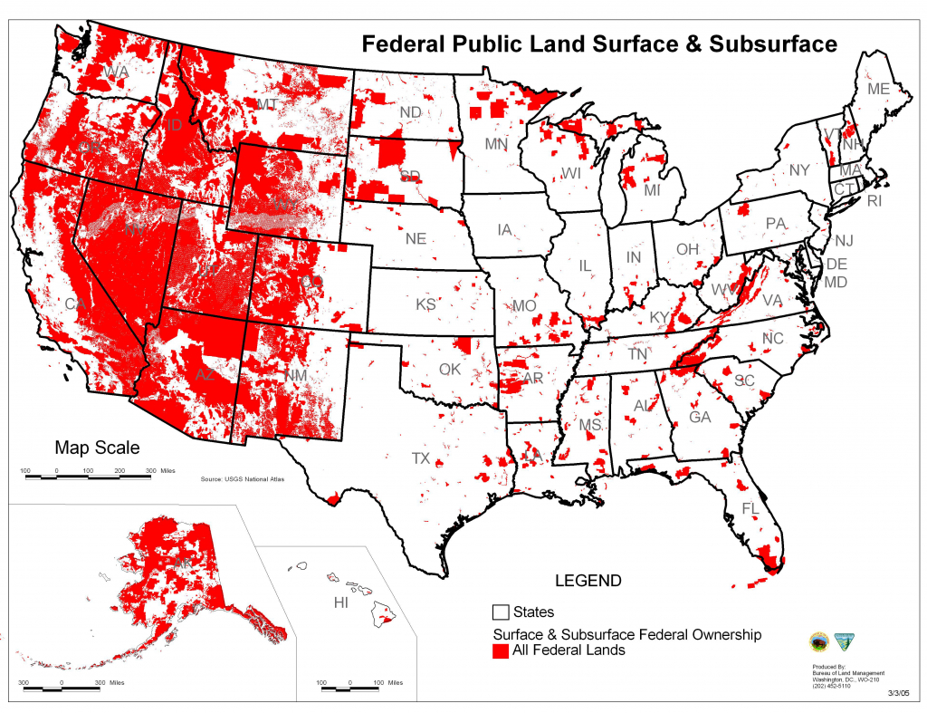 Map Of Public Lands In The Us Gov Land Map New Map All U S Federal - Blm Land Florida Map