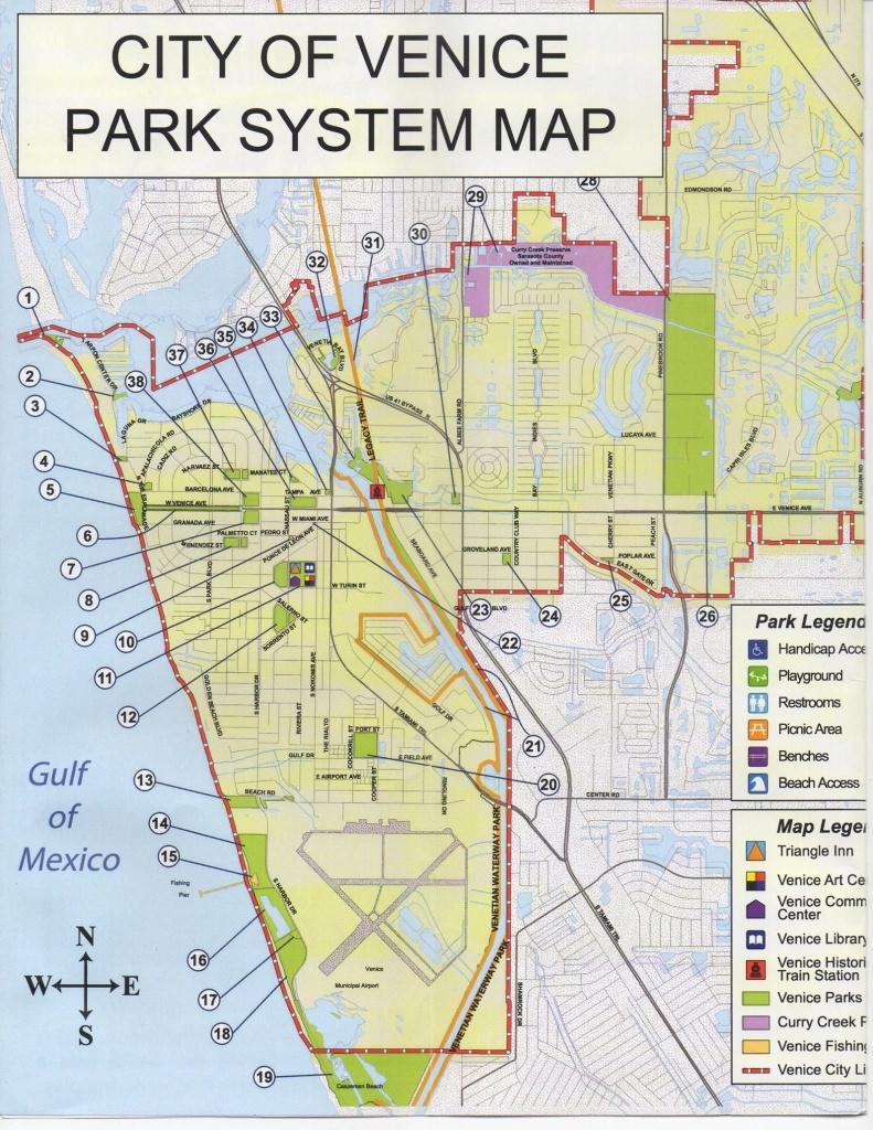 Map Of Public Parks & Trails In Venice, Florida. | Favorite Places - Sarasota Beach Florida Map