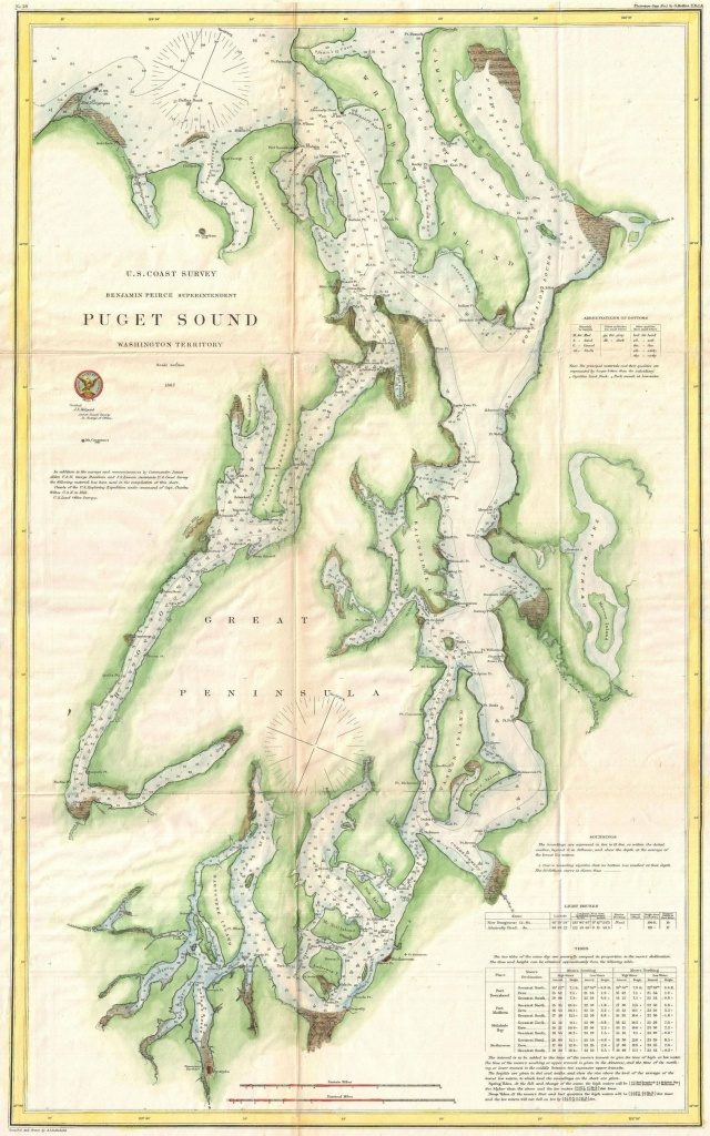 Map Of Puget Sound | Maps | Seattle Map, Map, Washington Map - Vashon Island Map Printable