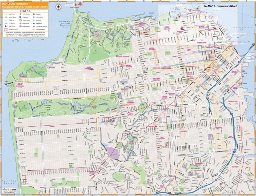 Map Of San Francisco: Interactive And Printable Maps   Wheretraveler - San Francisco Tourist Map Printable