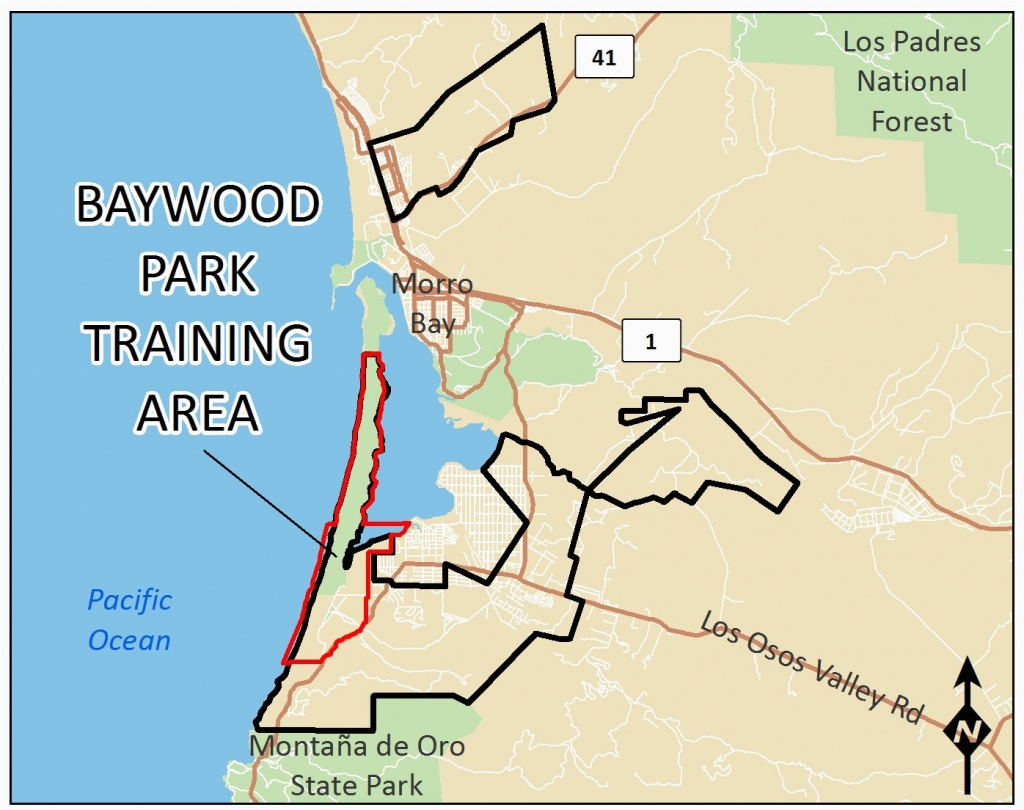 Map Of San Luis Obispo California Baywood Park Training Area - San Luis Obispo California Map