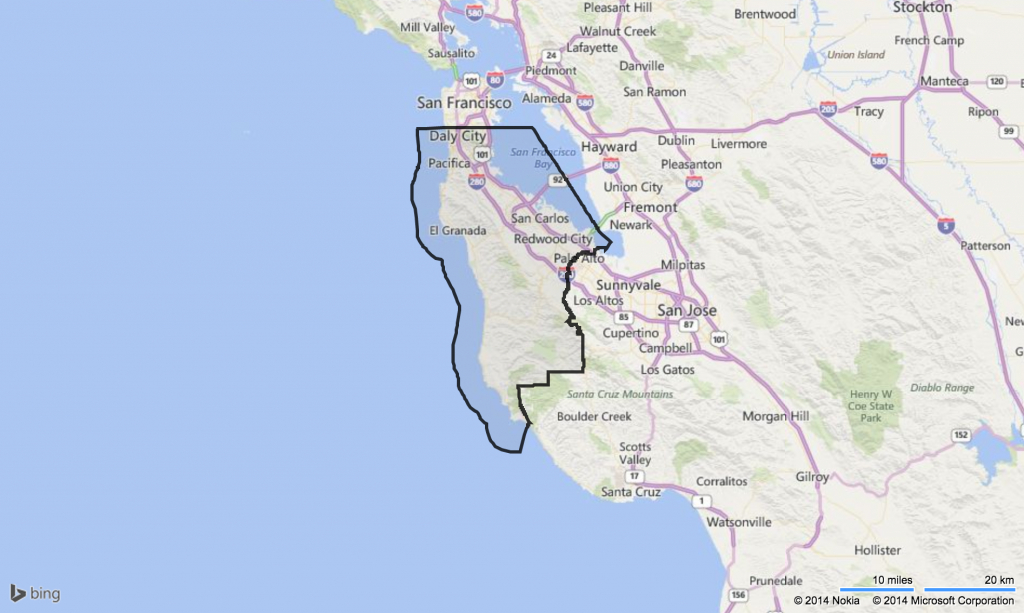 Map Of San Mateo County Ca And Travel Information | Download Free - San Mateo California Map