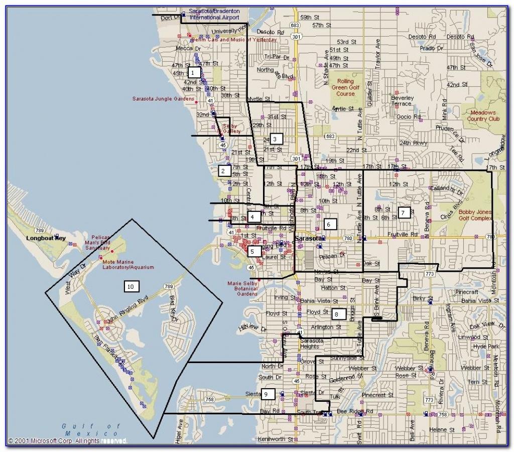Map Of Sarasota Florida Beaches - Maps : Resume Examples #7Ppd15Nmne - Map Of Sarasota Florida Area