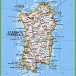 Map Of Sardinia With Cities And Towns   Printable Map Of Sardinia