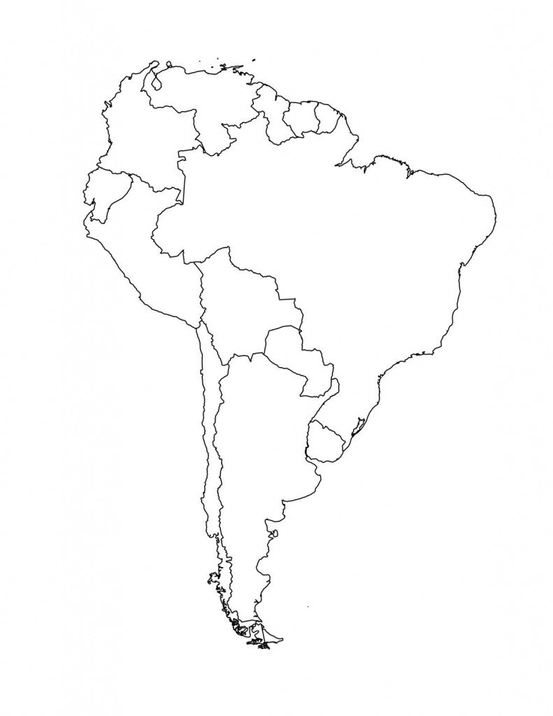 Map Of South American Countries   Occ Shoebox   South America Map - South America Outline Map Printable