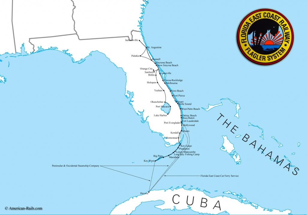 Map Of South Florida Coast - Lgq - Map Of Florida East Coast