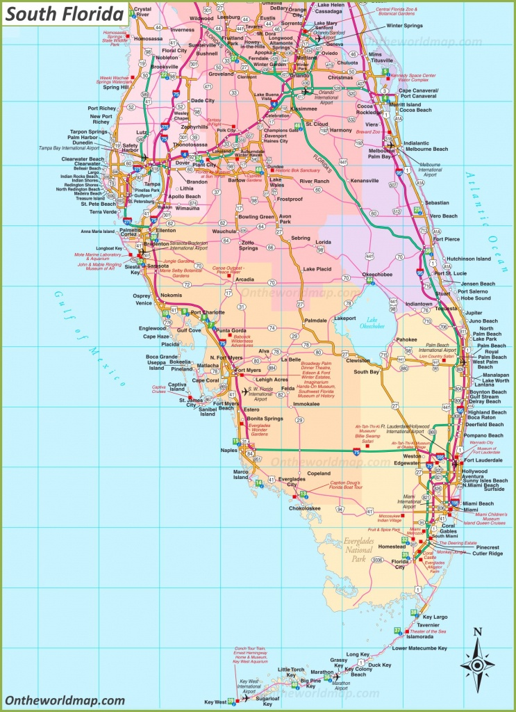 Map Of South Florida - Map Of South Venice Florida