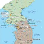 Map Of South Korea And North Korea   Printable Map Of Korea