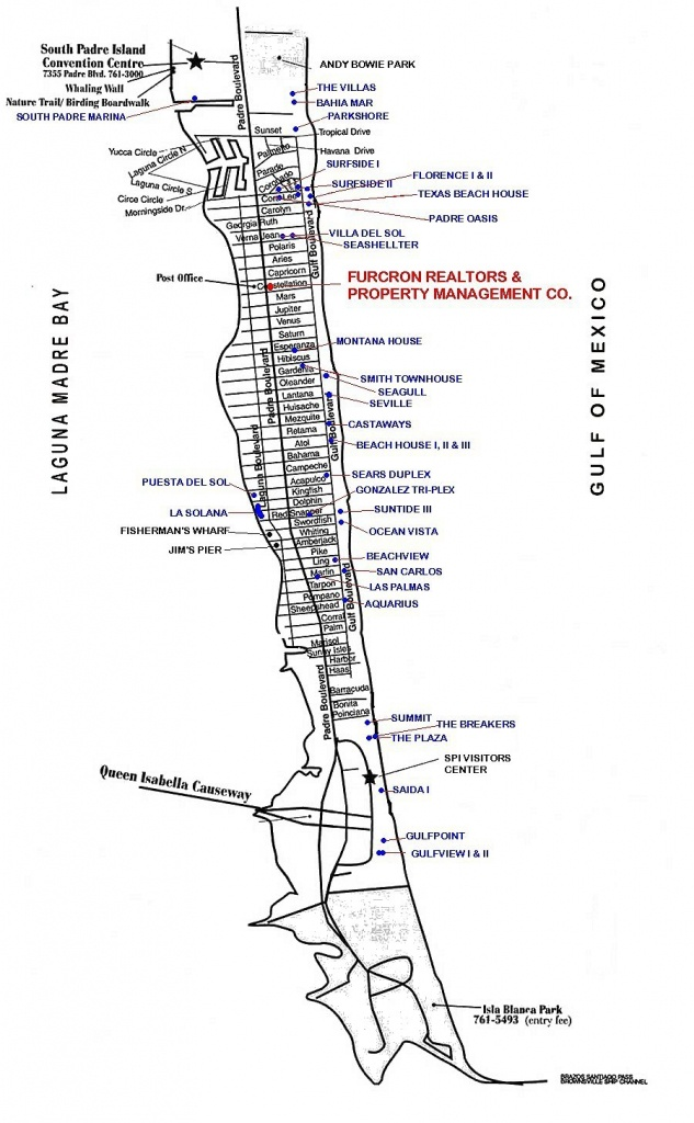 Map Of South Padre Island In Texas - Texas Padre Island Map
