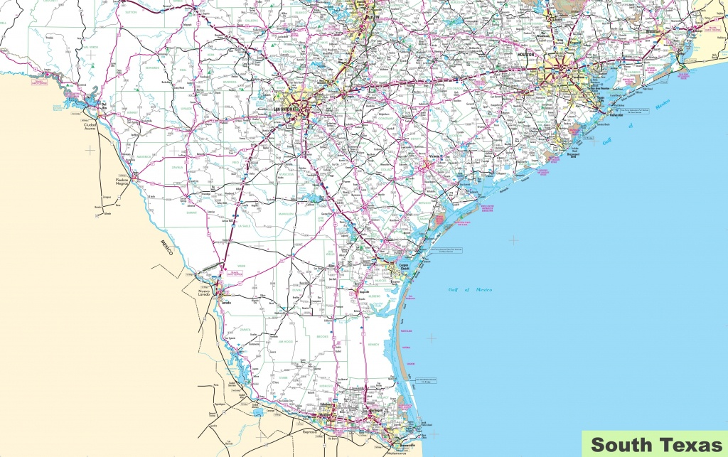 Map Of South Texas - State Map Of Texas Showing Cities