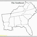Map Of Southeast Printable Blank Us Road Southeastern Lovely The   Printable Map Of Southeast United States
