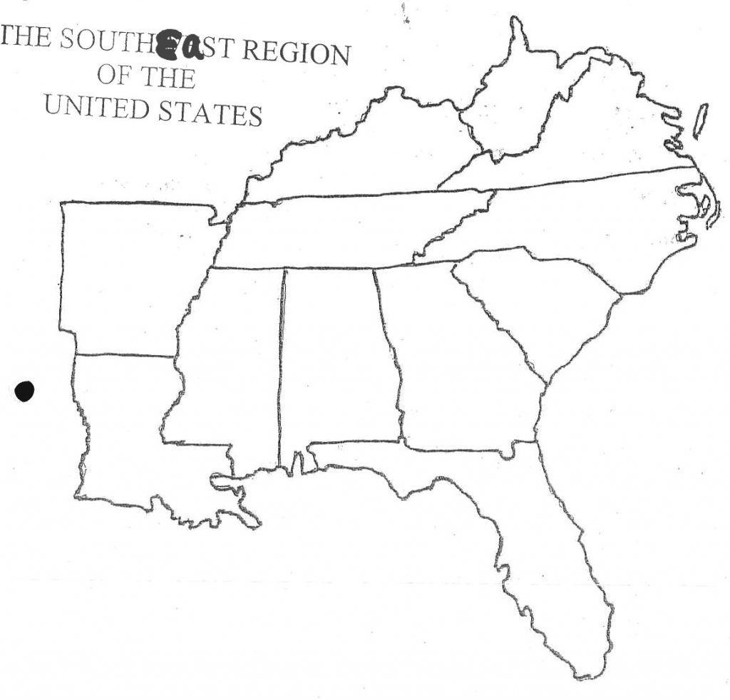 Map Of Southeast Us States - Maplewebandpc - Printable Map Of Southeast United States