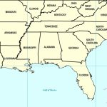 Map Of Southeast Us States | Sitedesignco   Printable Map Of Southeast Us