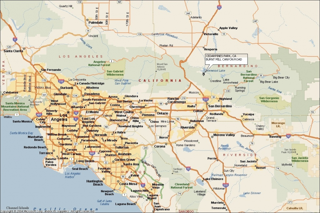 Map Of Southern California Cities California State Map Southern - Map Of Southern California Cities