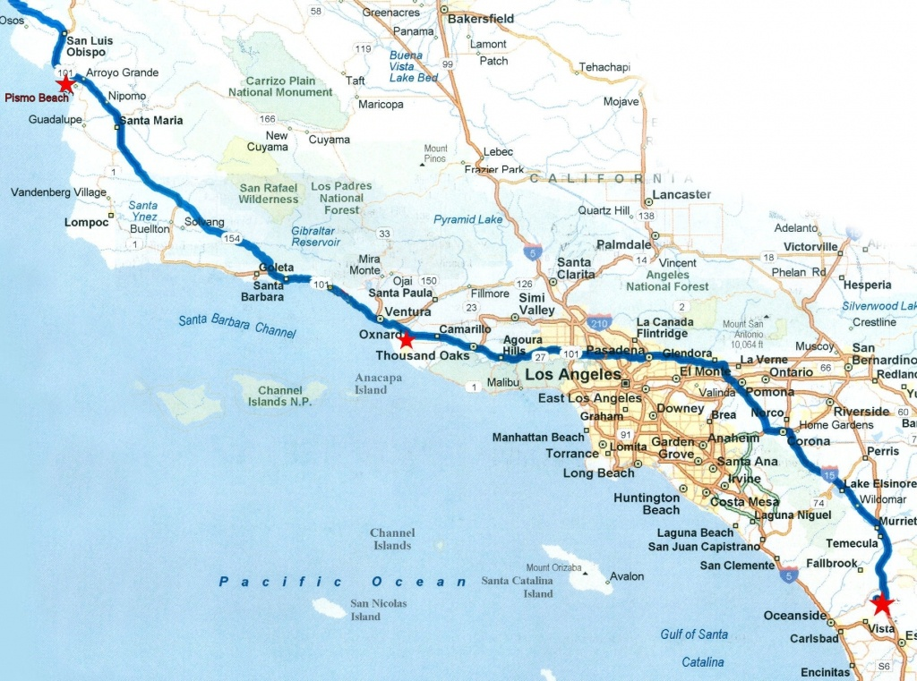Map Of Southern California Coastal Towns Beautiful Road Map Within - California Coastal Towns Map