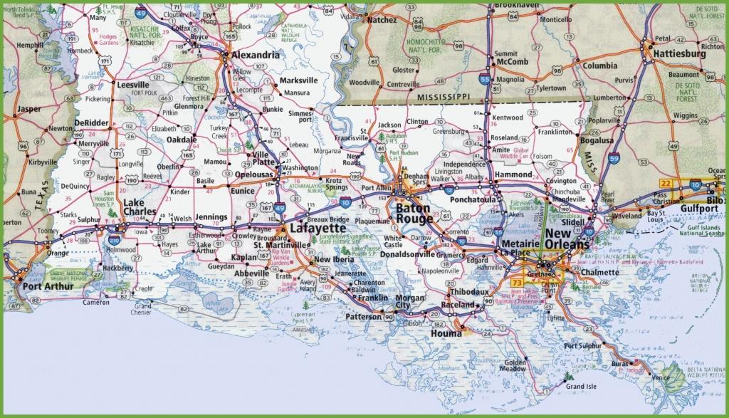 Map Of Southern Louisiana - Printable Map Of Louisiana
