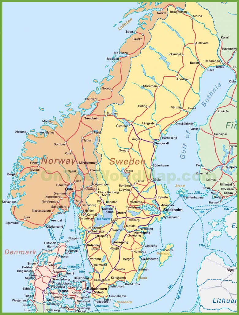 Map Of Sweden, Norway And Denmark - Printable Map Of Denmark