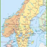 Map Of Sweden, Norway And Denmark   Printable Map Of Sweden