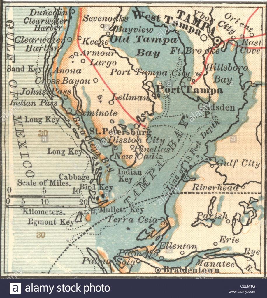 Map Of Tampa, Florida Stock Photo: 35973100 - Alamy - Johns Pass Florida Map