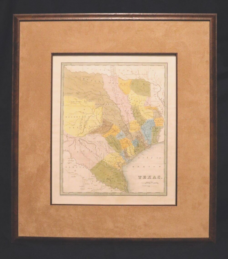 Map Of Texas: 1833,t. G. Bradford - Matted And Framed - - Framed Texas Map
