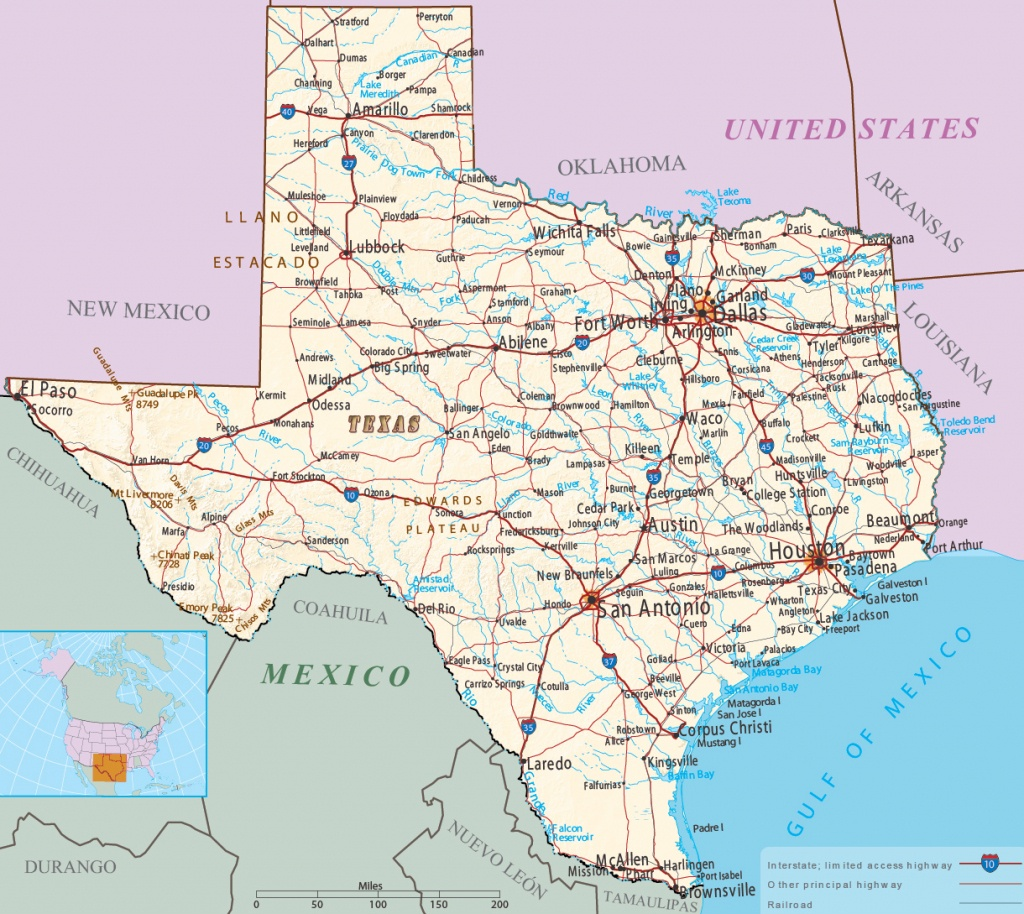 Map Of Texas - Multimodal - Map Of Texas And Arkansas
