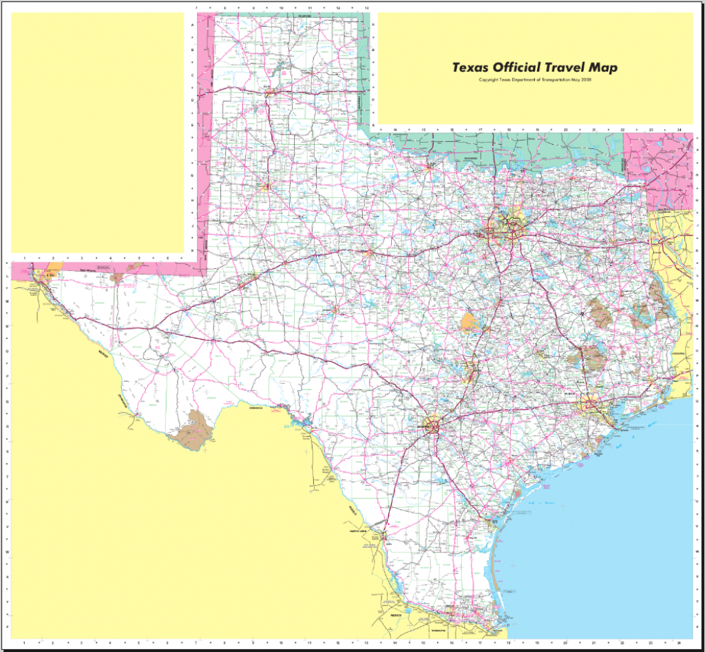 Map Of Texas (Street Map) : Worldofmaps - Online Maps And Travel - Texas Street Map