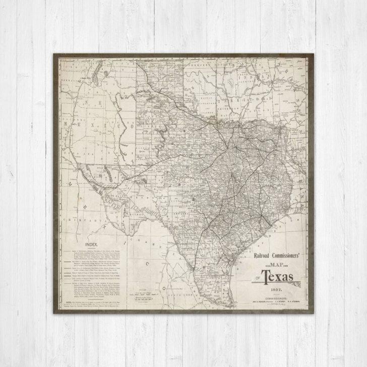 Texas Map Canvas