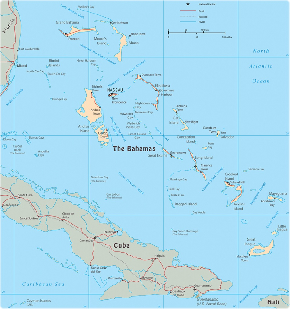 Map Of The Bahamas - Map Of Florida And Bahamas