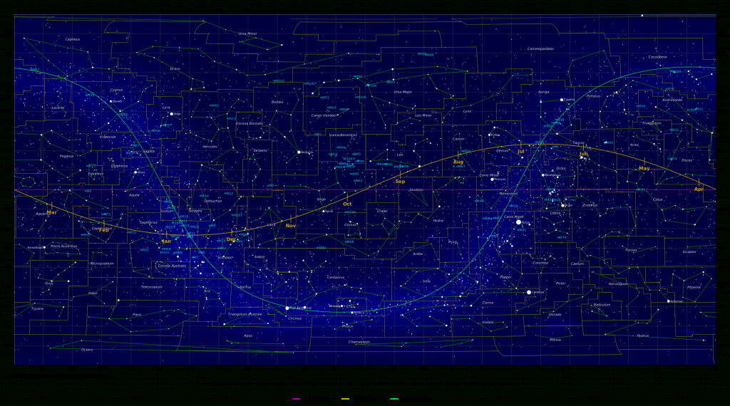 Map Of The Constellations - In-The-Sky - Printable Star Map