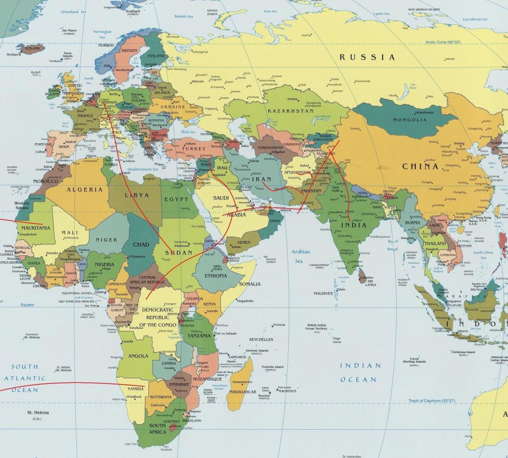 Map Of The Eastern Hemisphere   Ageorgio - Printable World Map With Hemispheres
