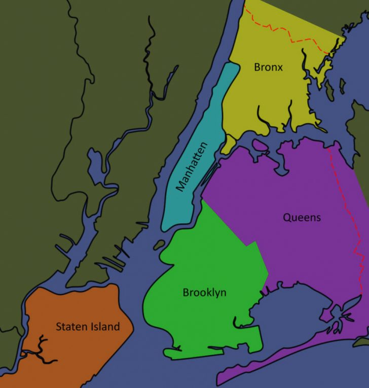 Map Of The 5 Boroughs Printable