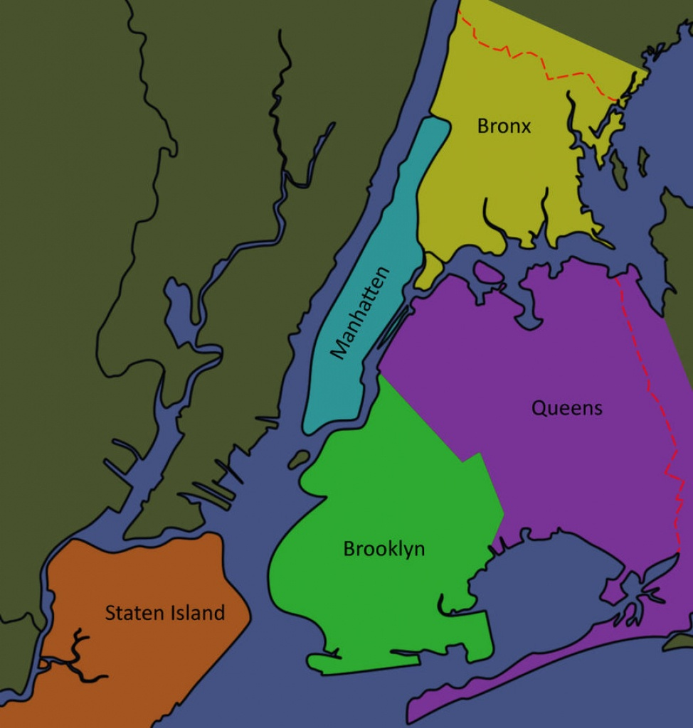 Map Of The Five Boroughs Of New York City And Travel Information - Map Of The 5 Boroughs Printable